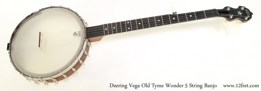 Deering Vega Old Tyme Wonder 5 String Banjo   Full Front View