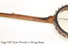 Deering Vega Old Tyme Wonder 5 String Banjo   Full Rear View