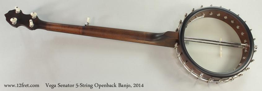Vega Senator 5-String Openback Banjo, 2014 Full Rear View
