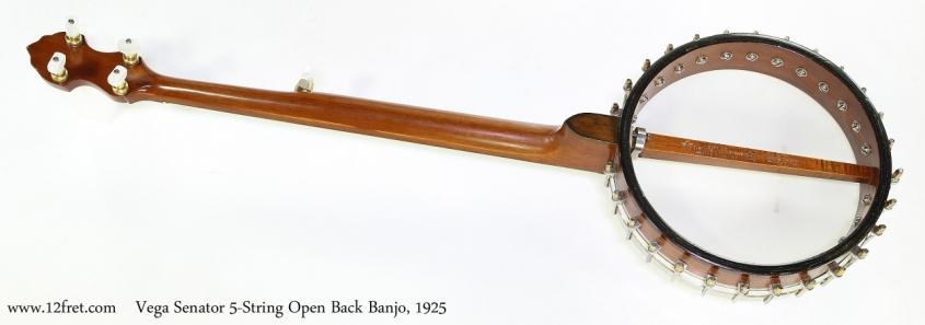 Vega Senator 5-String Open Back Banjo, 1925  Full Rear View