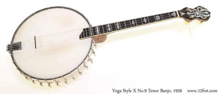 Vega Style X No.9 Tenor Banjo, 1926 Full Front View