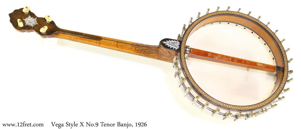 Vega Style X No.9 Tenor Banjo, 1926 Full Rear View