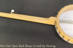 Vega White Oak Open Back Banjo 12 inch by Deering Full Rear View