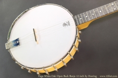 Vega White Oak Open Back Banjo 12 inch by Deering Top View