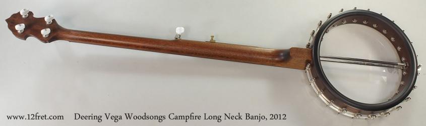 Deering Vega Woodsongs Campfire Long Neck Banjo, 2012 Full Rear View