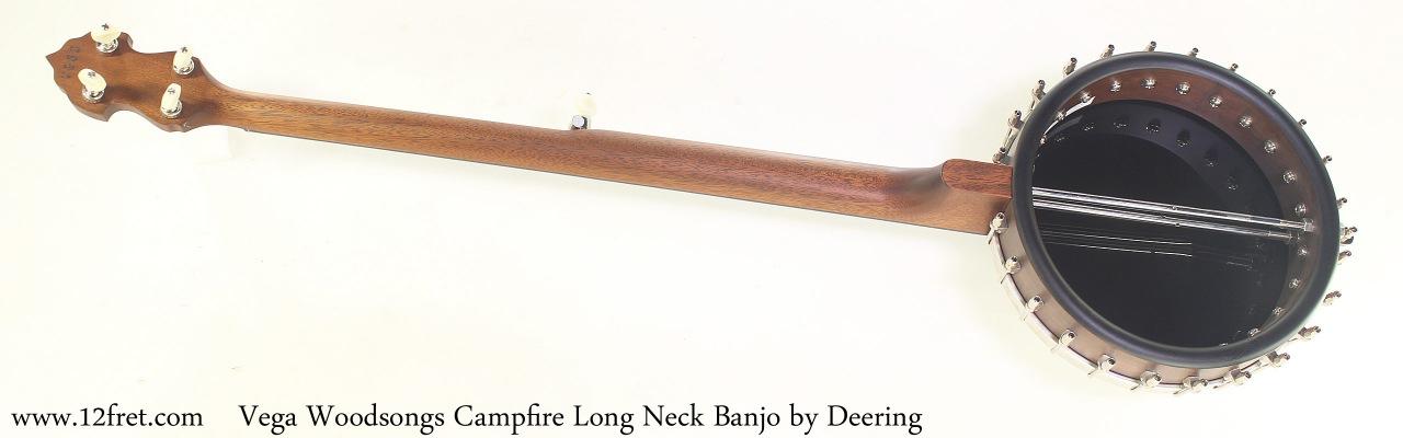 Vega Woodsongs Campfire Long Neck Banjo by Deering Full Rear View