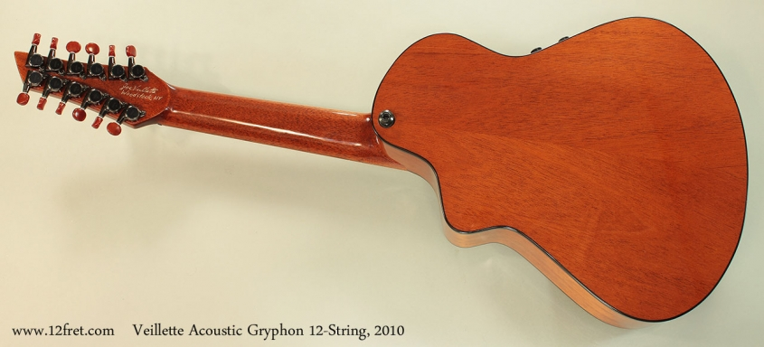 Veillette Acoustic Gryphon 12-String, 2010 Full Rear View