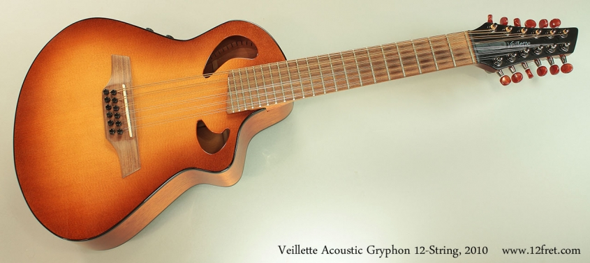 Veillette Acoustic Gryphon 12-String, 2010 Full Front View