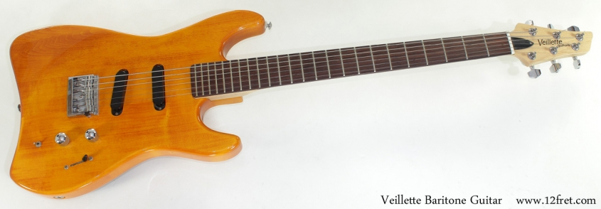 Alvarez Veillette Baritone Guitar full front view