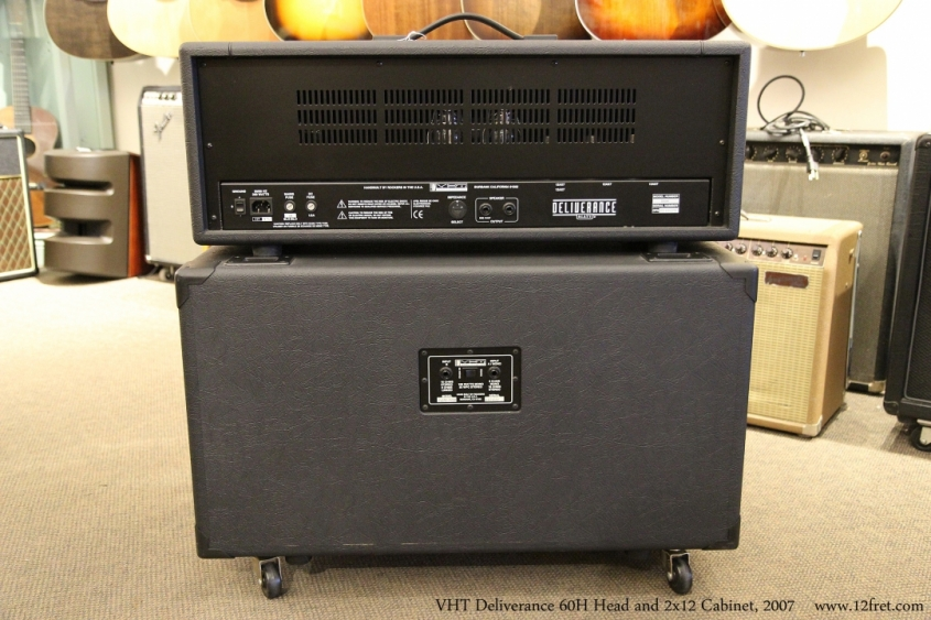 VHT Deliverance 60H Head and 2x12 Cabinet, 2007  Full Rear View