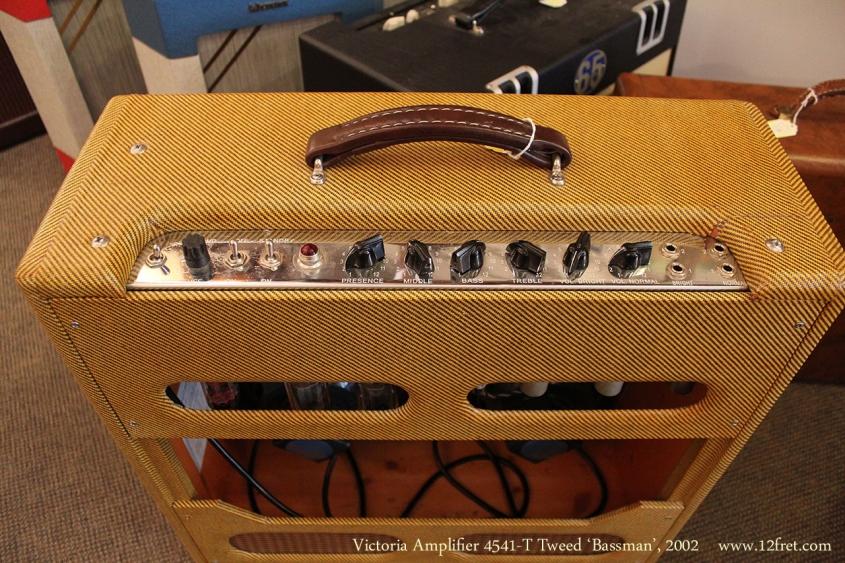 Victoria Amplifier 4541-T Tweed 'Bassman', 2002 Control Panel
