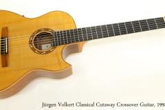 Jürgen Volkert Classical Cutaway Crossover Guitar, 1994 Full Front View