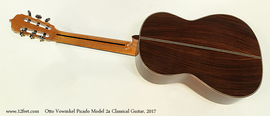 Otto Vowinkel Picado Model 2a Classical Guitar, 2017 Full Rear View