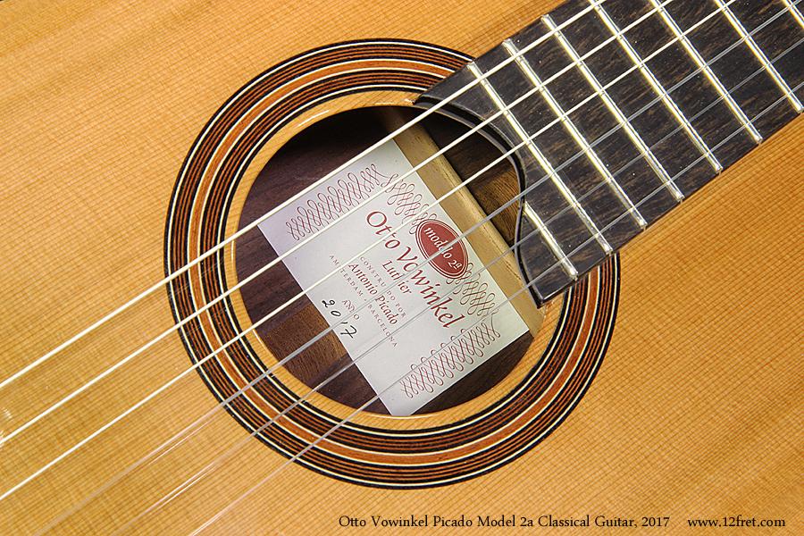 Otto Vowinkel Picado Model 2a Classical Guitar, 2017 Label View