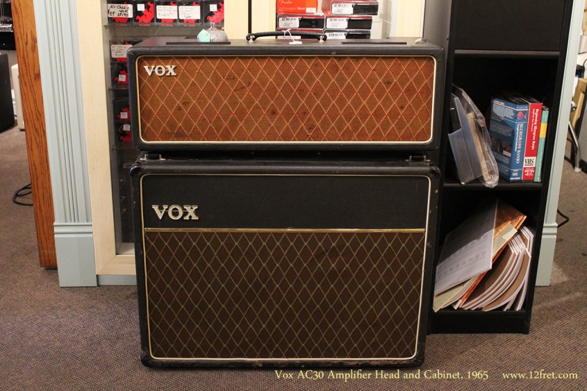 Vox AC30 Amplifier Head and Cabinet, 1965 Full Front View