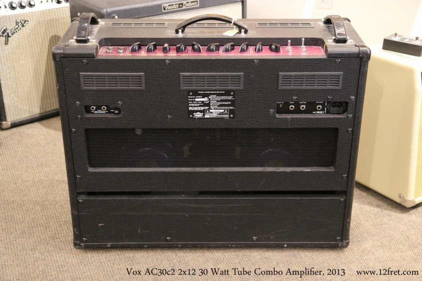 Vox AC30c2 2x12 30 Watt Tube Combo Amplifier, 2013  Full Rear View