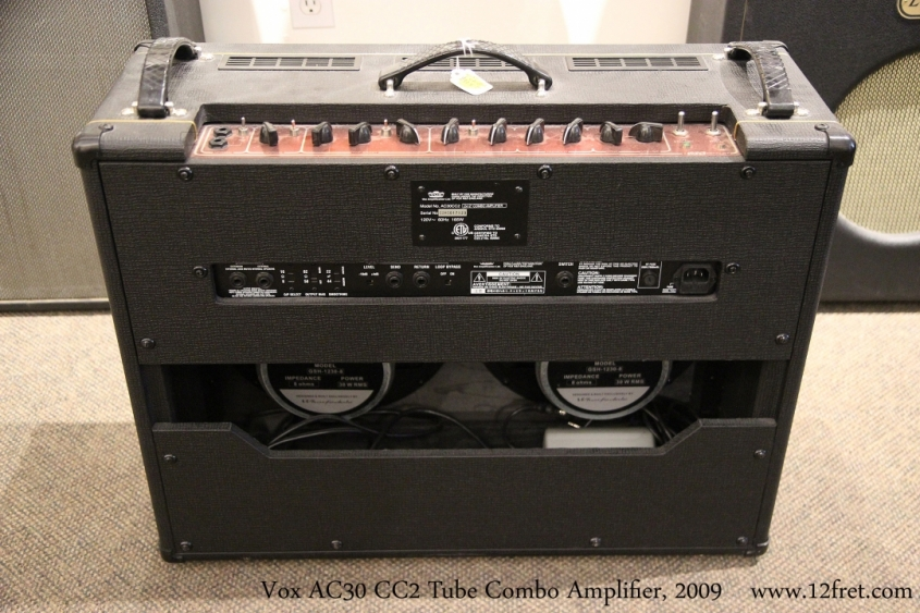 Vox AC30 cC2 Tube Combo Amplifier, 2009   Full Rear View