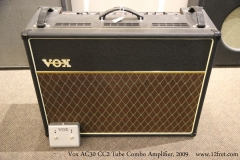Vox AC30 cC2 Tube Combo Amplifier, 2009   Full Front View
