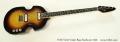 VOX V232 Violin Bass Sunburst 1966 Full Front View