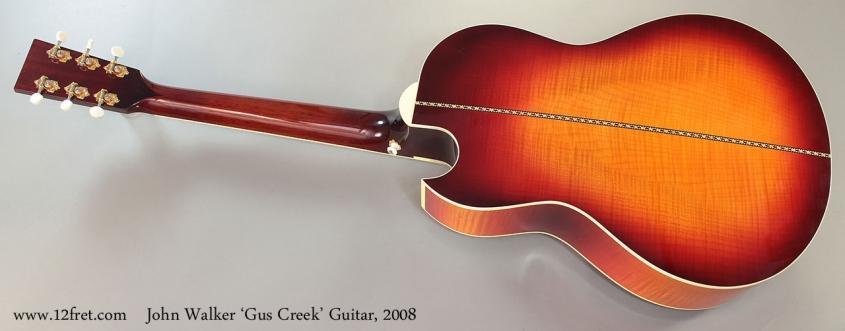John Walker 'Gus Creek' Guitar, 2008 Full Rear View