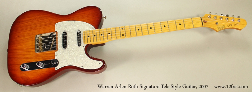 Warren Arlen Roth Signature Tele Style Guitar, 2007 Full Front View