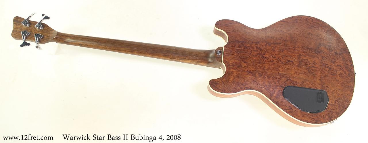 Warwick Star Bass II Bubinga 4, 2008 Full Rear View