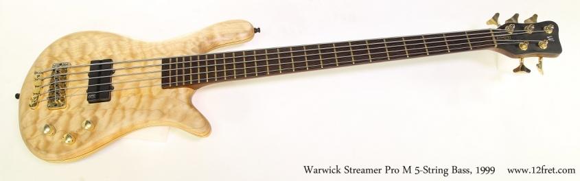 Warwick Streamer Pro M 5-String Bass, 1999  Full Front View