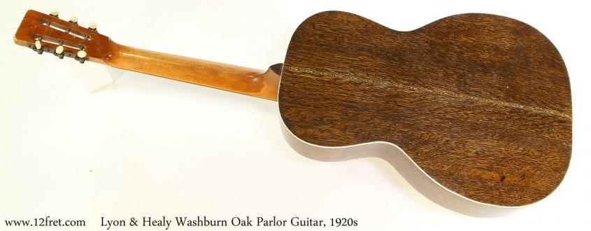 Lyon & Healy Washburn Oak Parlor Guitar, 1920s Full Rear View