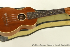 Washburn Soprano Ukulele by Lyon and Healy, 1920s  Full Front View