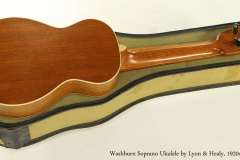 Washburn Soprano Ukulele by Lyon and Healy, 1920s  Full Rear View