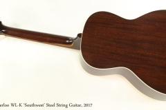 Waterloo WL-K 'Southwest' Steel String Guitar, 2017  Full Rear View