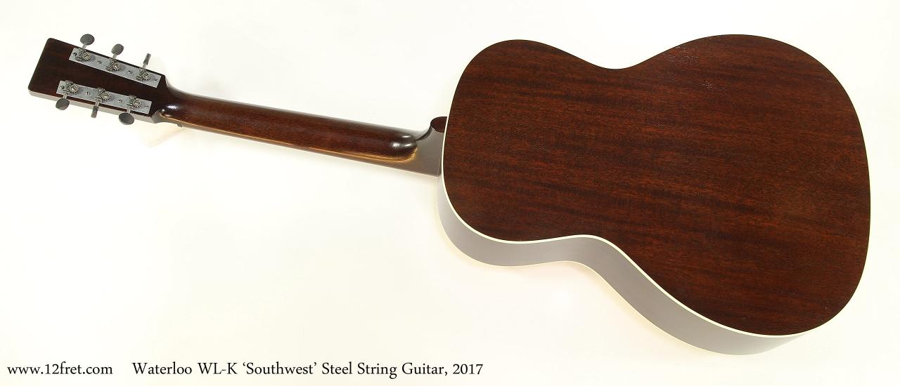 Waterloo WL-K 'Southwest' Steel String Guitar, 2017  Full Rear View
