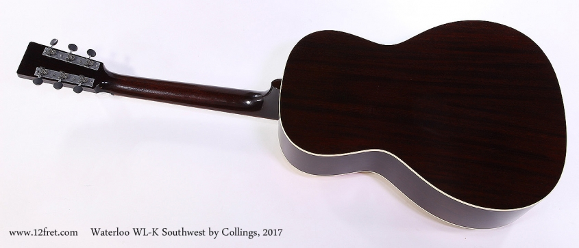 Waterloo WL-K Southwest by Collings, 2017 Full Rear View