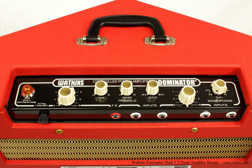 Watkins Dominator Mark 1 V-Front Amplifier Reissue Dansette Red controls 1