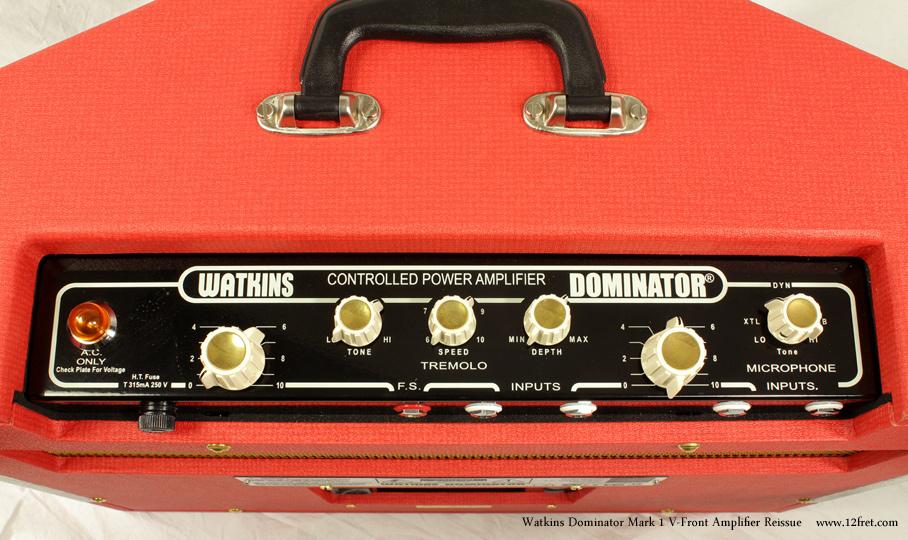 Watkins Dominator Mark 1 V-Front Amplifier Reissue Dansette Red controls 2