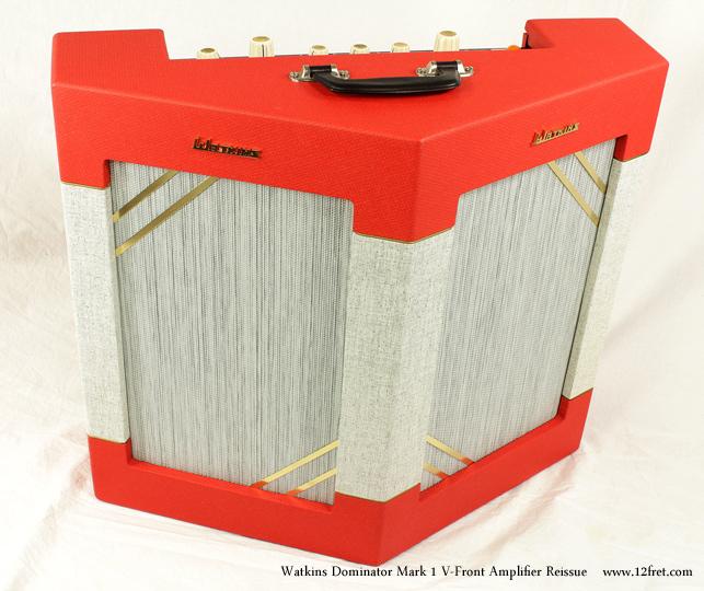 Watkins Dominator Mark 1 V-Front Amplifier Reissue Dansette Red Full Front View