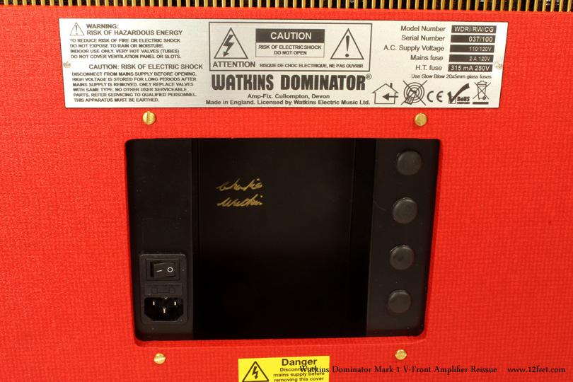 Watkins Dominator Mark 1 V-Front Amplifier Reissue Dansette Red label