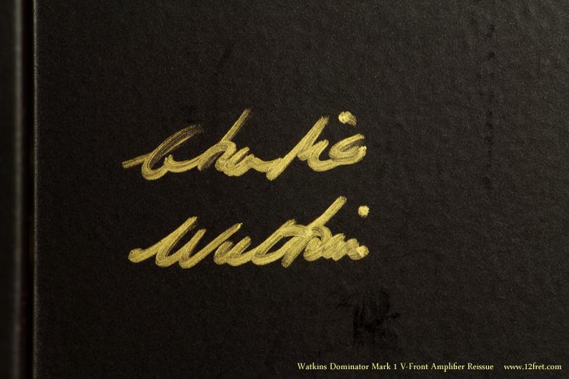 Watkins Dominator Mark 1 V-Front Amplifier Reissue Dansette Red Signature