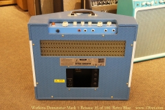 Watkins Dominator Mark 1 Reissue 35 of 100, Retro Blue Full Rear View
