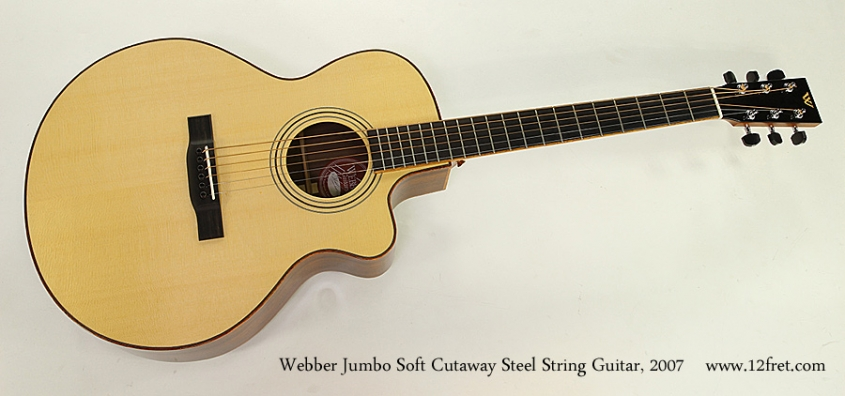 Webber Jumbo Soft Cutaway Steel String Guitar, 2007 Full Front View