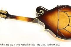 Weber Big Sky F Style Mandolin with Tone-Gard, Sunburst 2000 Full Rear View