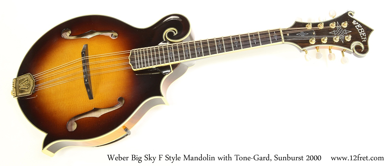 Weber Big Sky F Style Mandolin with Tone-Gard, Sunburst 2000 Full Front View