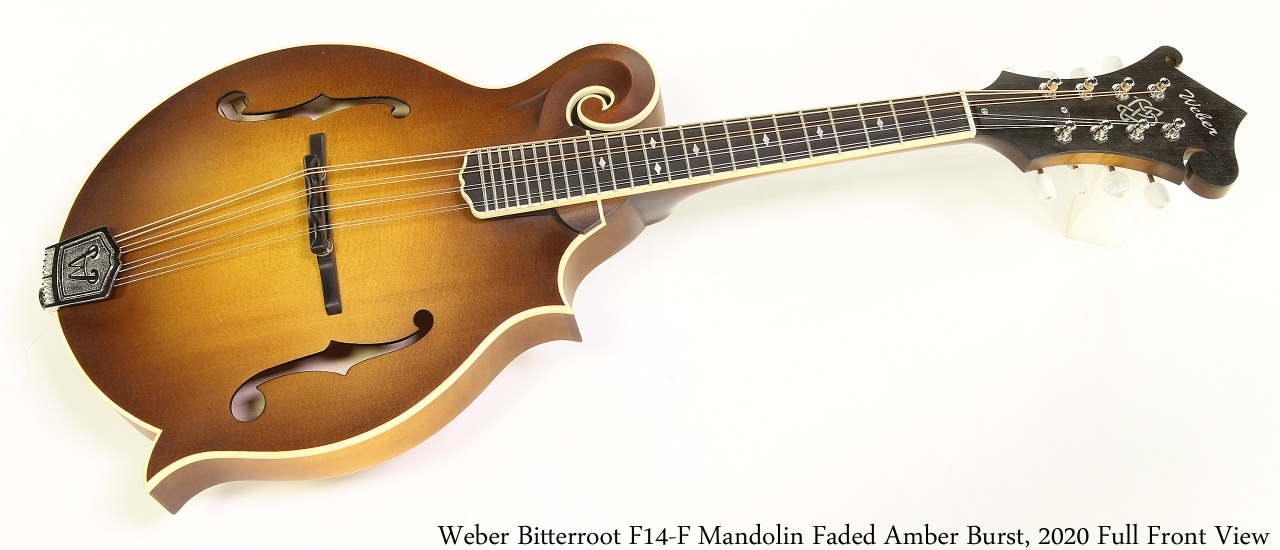 Weber Bitterroot F14-F Mandolin Faded Amber Burst, 2020 Full Front View
