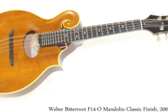 Weber Bitterroot F14-O Mandolin Classic Finish, 2002 Full Front View