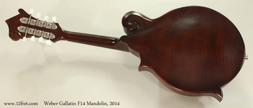 Weber Gallatin F14 Mandolin, 2014 Full Rear View