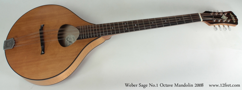 Weber Sage No.1 Octave Mandolin 2008 full front view