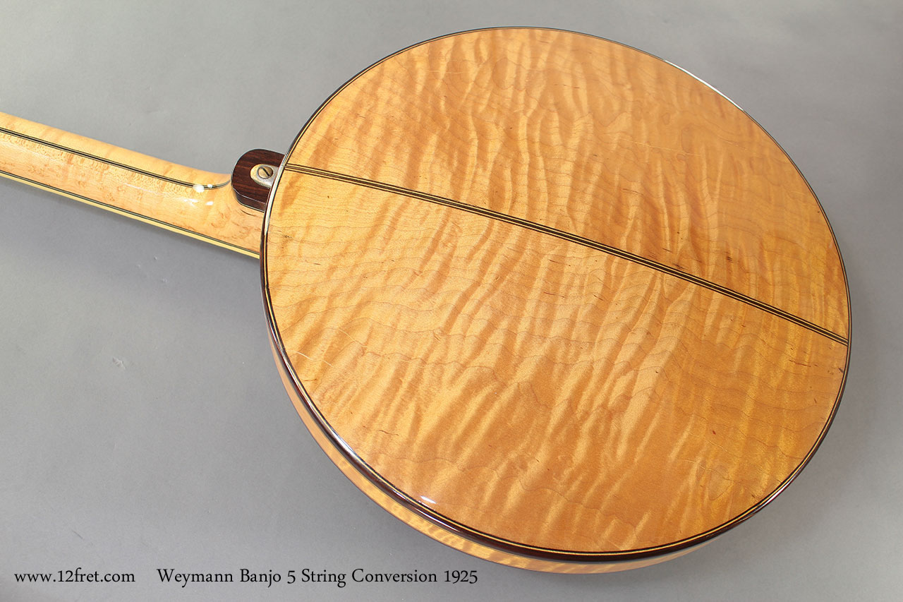 Weymann Banjo 5 String Conversion 1925 back resonator on