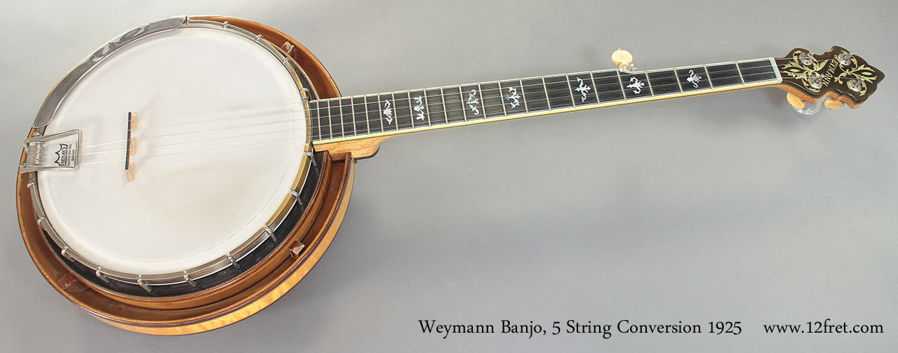 Weymann Banjo 5 String Conversion 1925 full front view