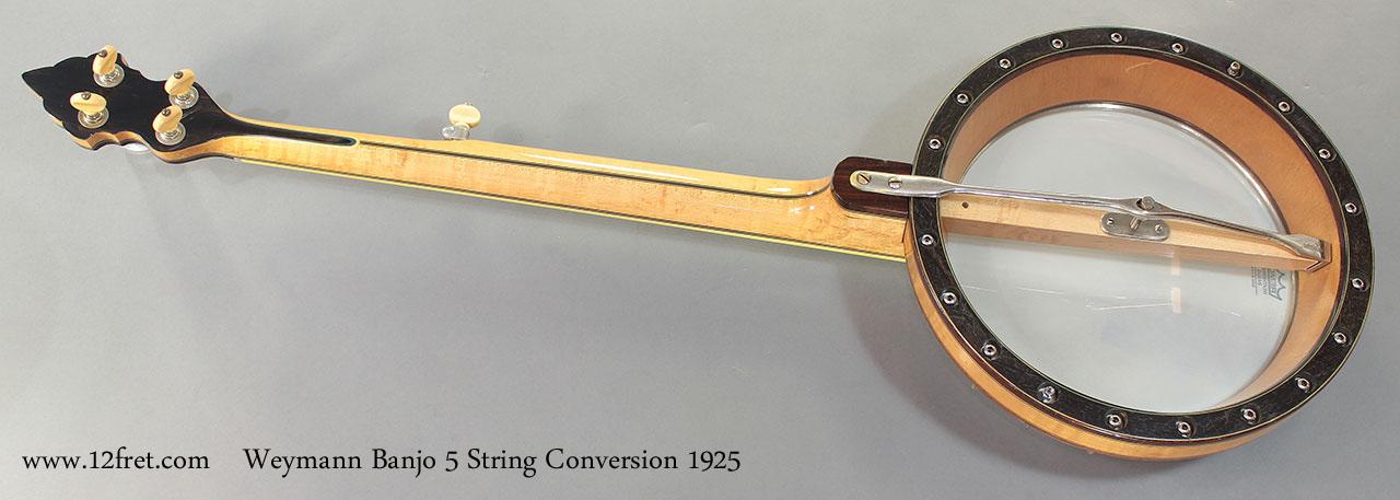 Weymann Banjo 5 String Conversion 1925 full rear resonator off