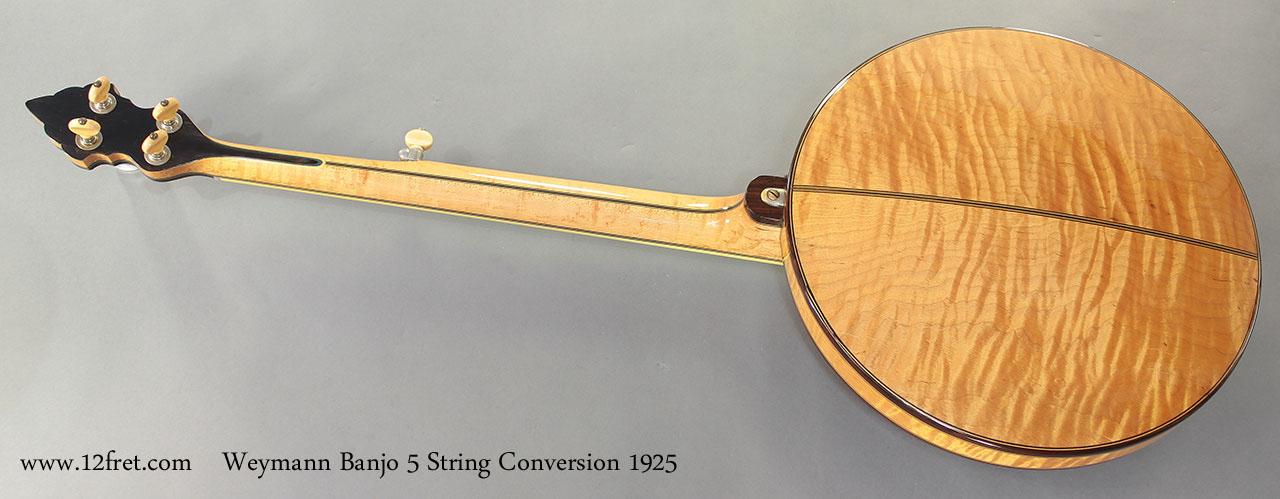 Weymann Banjo 5 String Conversion 1925 full rear resonator on